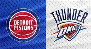 خلاصه بسکتبال اوکلاهاما سیتی - دیترویت پیستونز