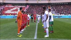 تونل بازیکنان پرسپولیس و ذوب آهن برای کاپیتان سیدجلال