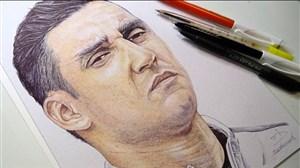 طراحی زیبا از چهره کیلور ناواس بازیکن رئال مادرید