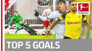 5 گل برتر سیزدهمین هفته بوندسلیگا (2019-2018)
