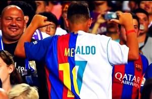 کریستیانو رونالدو و لیونل مسی در یک قاب