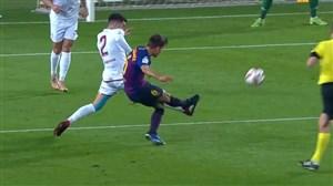 گل دوم بارسلونا به لئونسا (دنیس سوآرز)
