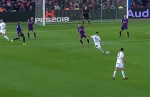 گل اول لئونسا به بارسلونا (جوزپ سنه)