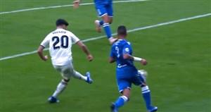 گل اول رئال مادرید به ملیا توسط آسنسیو