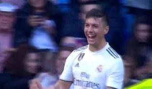 گل سوم رئال مادرید به ملیا توسط خاوی سانچز