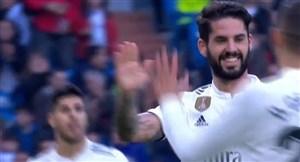 گل چهارم رئال مادرید به ملیا با ضربه زیبای ایسکو