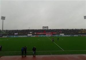 باران شدید و دردسرساز قبل از بازی استقلال-سپیدرود