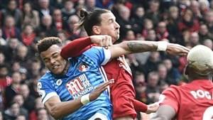 ضربات خطرناک با آرنج بازیکنان در زمین فوتبال