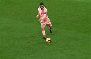 گل چهارم بارسلونا به اسپانیول با ضربه فوق العاده مسی