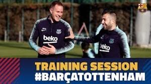 تمرین امروز بازیکنان بارسلونا (18-09-97)