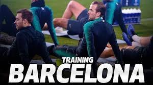 تمرینات تاتنهام پیش از دیدار برابر بارسلونا