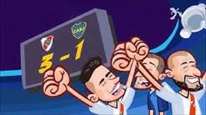 دیدار فینال جام لیبرتادورس به روایت انیمیشن