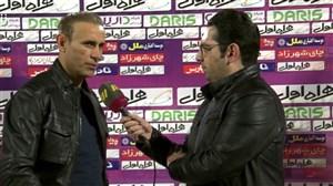 صحبت های گل محمدی پس از بازی مقابل استقلال