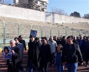 تشییع پیکر ایرج داناییفرد در حضور اهالی فوتبال