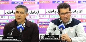 کنفرانس خبری پس از بازی تراکتورسازی - فولاد خوزستان