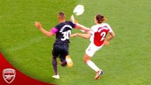 حرکات تکنیکی بازیکنان آرسنال در فصل 19-2018