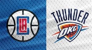 خلاصه بسکتبال اوکلاهاماسیتی تاندرز - لس آنجلس کلیپرز