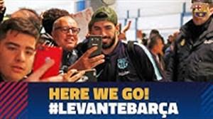 ملاقات بازیکنان بارسلونا با هواداران در والنسیا