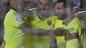 گل سوم بارسلونا به لوانته (دبل مسی)