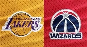 خلاصه بسکتبال واشنگتن ویزاردز - لس آنجلس لیکرز
