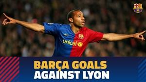 بهترین گل های بارسلونا در برابر لیون