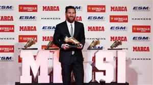 صحبتهای مسی پس از کسب پنجمین کفش طلای اروپا