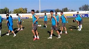 آخرین تمرین بازیکنان تیم ملی امید قبل از دیدار با سوریه