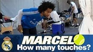 حرکات نمایشی مارسلو با توپ تنیس در تمرینات رئال
