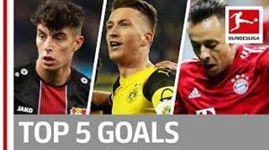 5 گل برتر هفته هفدهم بوندسلیگا 19-2018