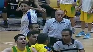 درگیری عجیب در انتهای دیدار بسکتبال پالایش نفت آبادان - شیمیدر