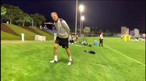 تمرین تیم ملی ایران از نگاه دوربین جام ملت ها