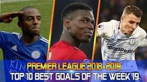 10 گل برتر هفته نوزدهم لیگ برتر جزیره