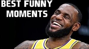لحظات خنده دار و بامزه لبران جیمز در بسکتبال