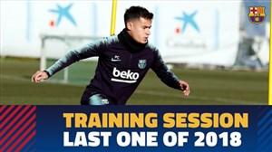 آخرین تمرین تیم بارسلونا در سال 2018(10-10-97)