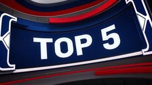 5 حرکت برتر امروز بسکتبال NBA