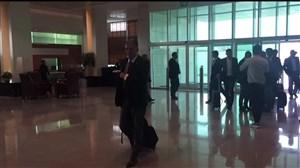 ورود بازیکنان تیم ملی به فرودگاه دوحه برای پرواز به امارات