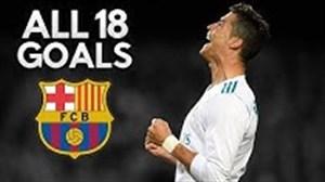 تمامی 18 گل کریستیانو رونالدو به بارسلونا