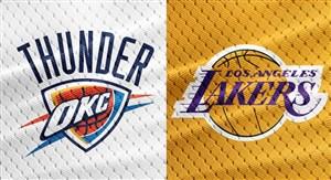 خلاصه بسکتبال لس آنجلس لیکرز - اوکلاهاما سیتی تاندرز