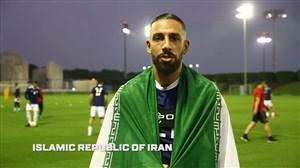 خوشآمد گویی کاپیتانهای تیمهای حاضر در جام ملتهای آسیا