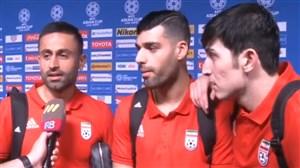 مصاحبه جذاب با بازیکنان تیم ملی پس از برد یمن