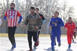 تمرین کشتیگیران بیخ گوش تیم فکری(عکس)