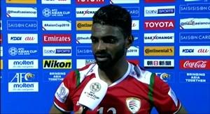 صحبت های بازیکن عمان پس از شکست