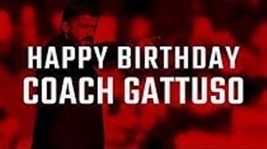 تبریک باشگاه آث میلان به مناسبت تولد گنارو گتوزو