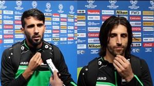 گفتگو با بازیکنان تیم ملی عراق پس از بازی ویتنام