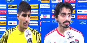 صحبتهای بازیکنان هند و امارات پس از بازی