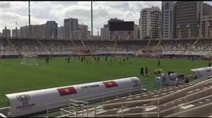 گزارش اختصاصی از تمرین تیم ملی پیش از دیدار با ویتنام