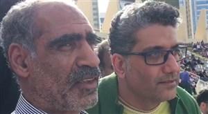 مصاحبه با پدر مهدی طارمی در ورزشگاه ال نهیان