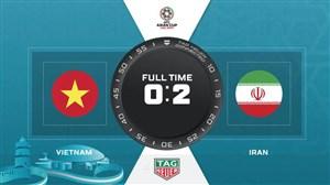 خلاصه بازی ایران 2 - ویتنام 0 (گزارش انگلیسی)