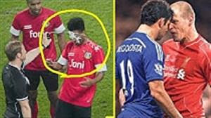 لحظات خنده دار از درگیری ها و گاف های بازیکنان در فوتبال
