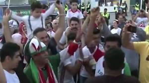 استقبال هواداران با غیرت و پرشور تیم ملی در امارات